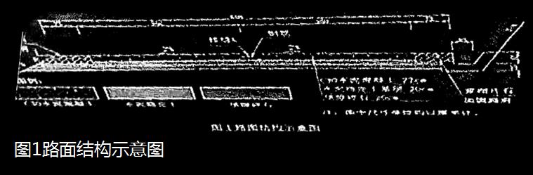 路面结构示意图见图1